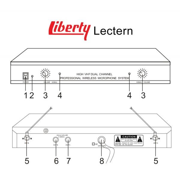 Liberty T-6236B Lectern / Podium