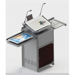 Digital Podium without monitor & PC and Second monitor (Touch Screen) HJ-24H