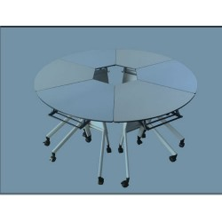 School Furniture Collaborative Pentacle Folding table JC-TB01