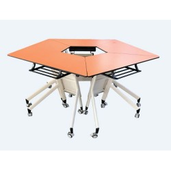 School Furniture Collaborative Pentacle Folding table JC-TB02