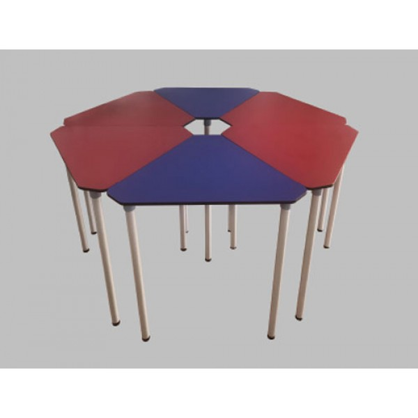 School Furniture Collaborative Pentacle Alumunium Foot Table (without Folding) JC-TB03