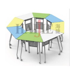 School Furniture Collaborative Pentacle Table (Without Folding) JC-TB04