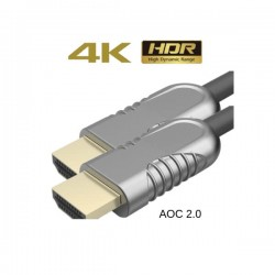Liberty HDMI Optical Fiber Cable 50 mtrs ( AOC 2.0, 4K )