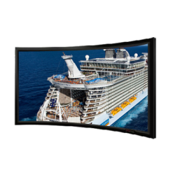 """Liberty Screen Pro 180"""" (16:9) Curved Fixed Frame Acoustic Woven 90MM"""