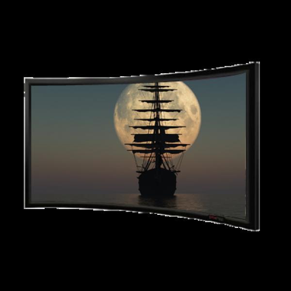 "Liberty Vega 100"" (2.35:1) Homemax  Curved Fixed Frame Screen PVC Silver (RGG)"