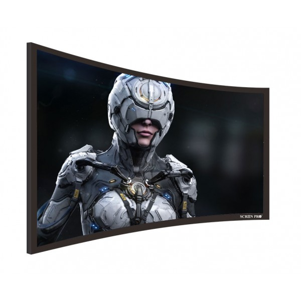 "Liberty Screen Pro 100"" (16:9) Curved Fixed Frame 4K MW 90MM"
