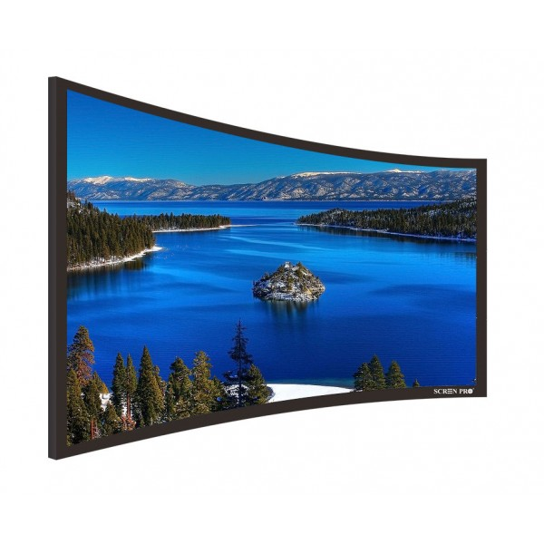 "Liberty Screen Pro 100"" (16:9) Curved Fixed Frame T8 90MM"