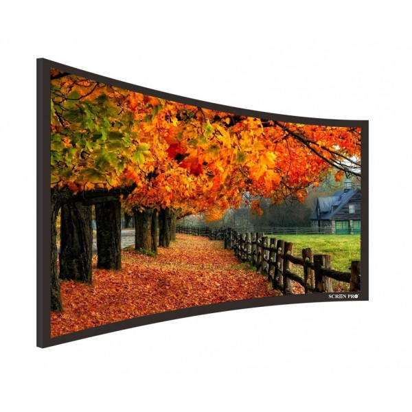 "Liberty Screen Pro 100"" (2.35:1) Curved Fixed Frame 4K MW 90MM"