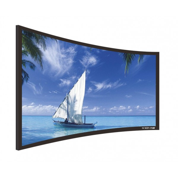 "Liberty Screen Pro 100"" (2.35:1) Curved Fixed Frame Acoustic Woven 90MM"