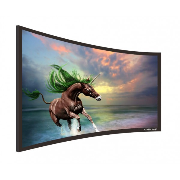 "Liberty Screen Pro 100"" (2.35:1) Curved Fixed Frame T8 90MM"