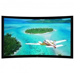 "Liberty Grandview 165"" (16:9) Ultimate Curved Fixed Frame 10cms  Acoustic Weaved (with wooden crate packing)"
