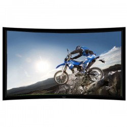 "Liberty Grandview 77"" (16:9) Prestige Curved Fixed Frame Screen With 8cm Frame And Acoustic Weaved"