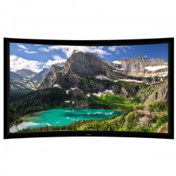"Liberty Grandview 92"" (16:9) Prestige Curved Fixed Frame HD Matte White"