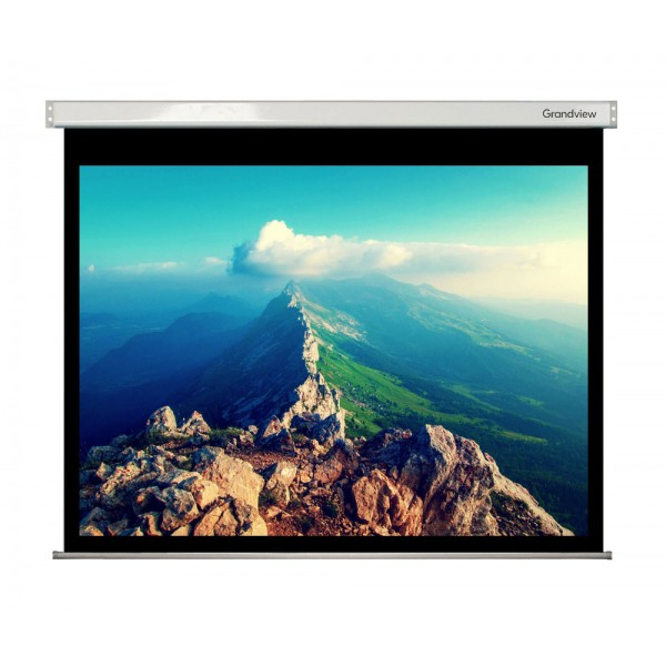 """Liberty Grandview 500"""" (16:9) Large Stage Wooden Case  with HD Matte White Screen"""