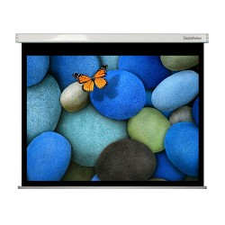 "Liberty Grandview 400"" (16:10) Large Stage Wooden Case  with Matte White (WM9) Fabric- Screen"
