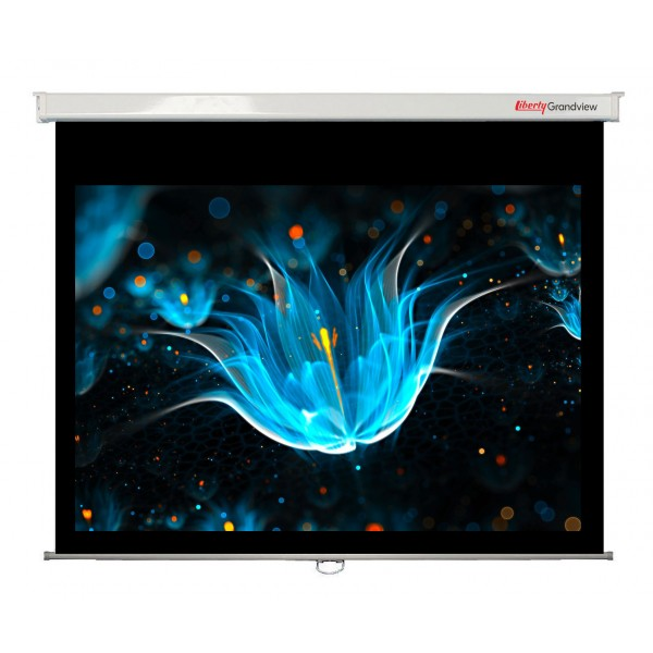 "Liberty Grandview 100"" (16:9) CNV Series Manual Screen"