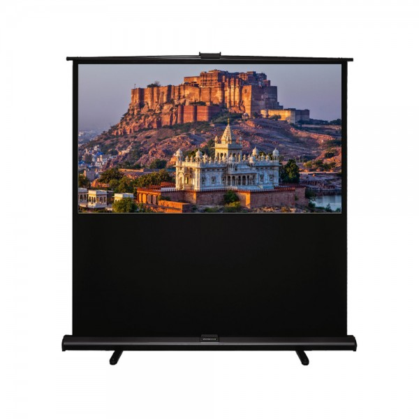 "Liberty Grandview (5'x7')100""(4:3) Portable X/Y Floor Up Screen With Matt White"