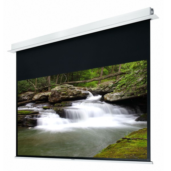 "Liberty Grandview (5'x7')100"" (4:3) Hidetech Series Recessed Ceiling Motorized Screen with Trap Bar"