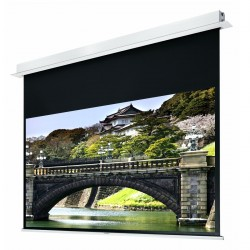 "Liberty Grandview 77"" (16:9) Hidetech Series Recessed Ceiling Motorized Screen with Trap Bar"