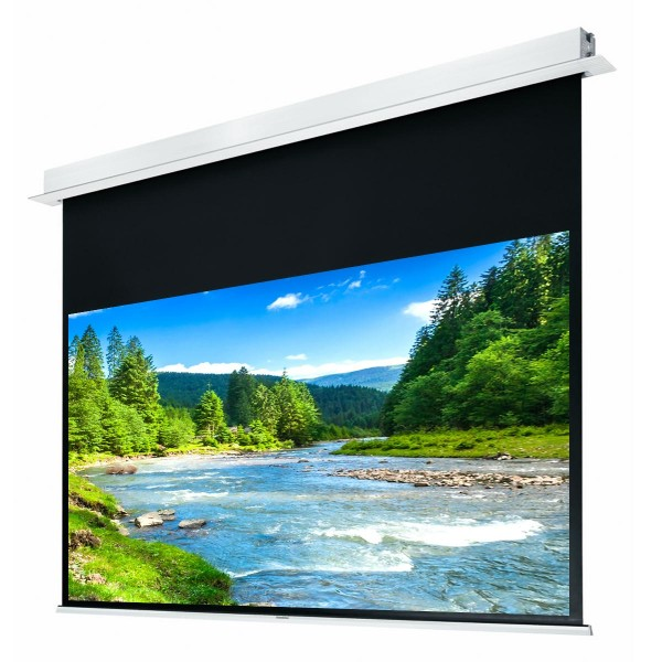 "Liberty Grandview 100"" (16:9) Hidetech Series Recessed Ceiling Motorized Screen with Trap Bar"