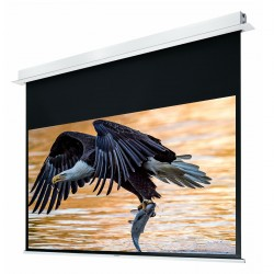 "Liberty Grandview 82"" (16:10) Hidetech Series Recessed Ceiling Motorized Screen with Trap Bar"