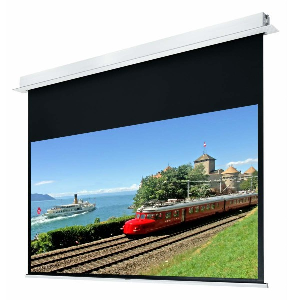 "Liberty Grandview 100"" (2.35:1) Hidetech Series Recessed Ceiling Motorized Screen with Trap Bar"