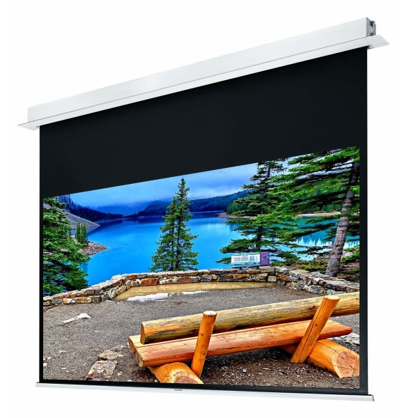 "Liberty Grandview 100"" (2.35:1) Hidetech Series Recessed Ceiling Motorized Screen without Trap Bar"