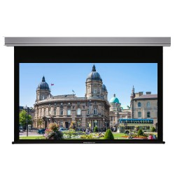 """Liberty Grandview 100"""" (16:9) Cyber Series Recessed Ceiling Motorized Screen with Matte White"""