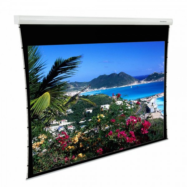 "Liberty Grandview 100"" (2.35:1) Fancy Motorized Tab-Tension Screen"