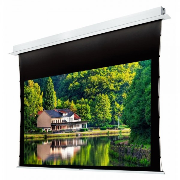 """Liberty Grandview 100"""" (16:9) Hidetech Recessed Tab-Tension Screen With Trap Bar"""