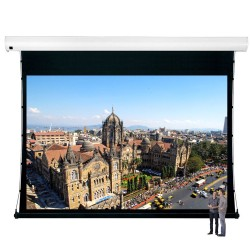 "Liberty Vega Show 350"" (16:9) Giant Tension Engineering Motorized Screen With 4 In 1 Remote Control"