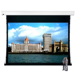 "Liberty Vega Show 400"" (4:3) Giant Tension Engineering Motorized Screen With 4 In 1 Remote Control"