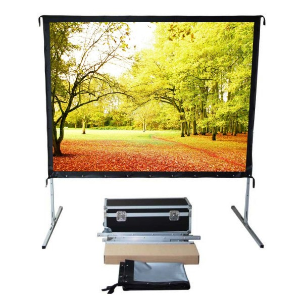 "Liberty Vega Show (5'x7')100"" (4:3) Easy Fold Portable Screen with Video Format"