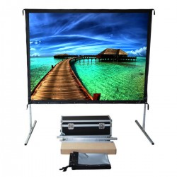 "Liberty Vega Show( 6'X8')120"" (4:3) Easy Fold Portable Screen with Video Format"