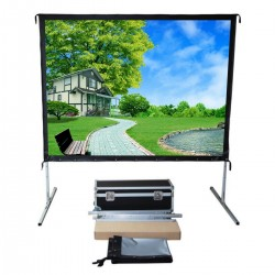 "Liberty Vega Show (8'X10')150"" (4:3) Easy Fold Portable Screen with Video Format"