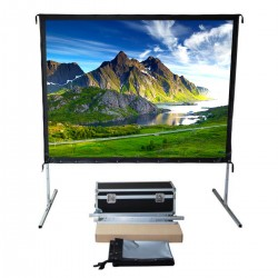 "Liberty Vega Show 180"" (4:3) Easy Fold Portable Screen with Video Format"