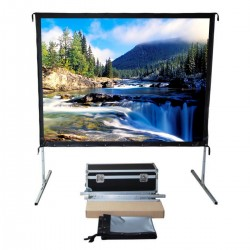 "Liberty Vega Show 250"" (4:3) Easy Fold Portable Screen with Video Format"