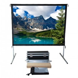 """Liberty Vega Show 300"""" (4:3) Easy Fold Portable Screen with Video Format"""