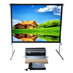 "Liberty Vega Show (4'x7') 92"" (16:9) Easy Fold Portable Screen with HDTV Format (Front Projection Fabric)"