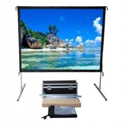 "Liberty Vega Show( 4.5'X8')110"" (16:9) Easy Fold Portable Screen with HDTV Format"