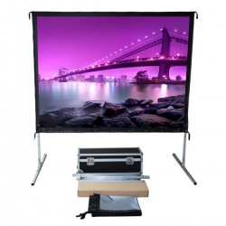 "Liberty Vega Show 138"" (16:9) Easy Fold Portable Screen with HDTV Format"
