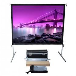 "Liberty Vega Show 138"" (16:9) Easy Fold Portable Screen with HDTV Format"