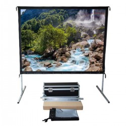 "Liberty Vega Show 165"" (16:9) Easy Fold Portable Screen with HDTV Format"