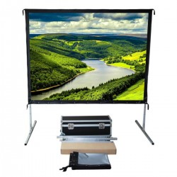 "Liberty Vega Show 142"" (16:10) Easy Fold Portable Screen with Wide Format"