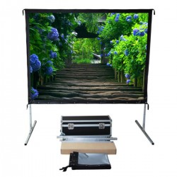 "Liberty Vega Show 170"" (16:10) Easy Fold Portable Screen with Wide Format"