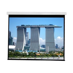 """Liberty Vega show Supreme Tab-Tensioned Screen 84""""(16:9) HDTV Format with Matte Gray"""