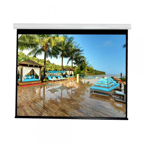 """Liberty Vega show Supreme Tab-Tensioned Screen 180""""(16:9) HDTV Format with Matte Gray"""