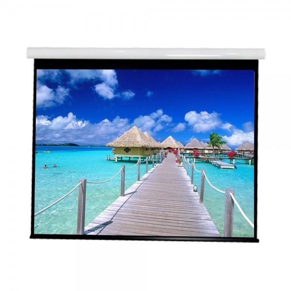"""Liberty Vega show Supreme Tab-Tensioned Screen 200""""(16:9) HDTV Format with Matte Gray"""