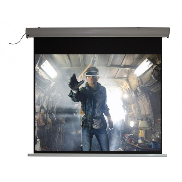 "Liberty Vega Premium Elite-Line Motorized 100"" 16:10 (MKW) 4K Fabric  with built-in Multi Function Remote."