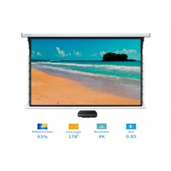 "Liberty Screen Pro Benz 145"" 16:10 ALR Motorized Tab Tensioned For Short Throw Projector"